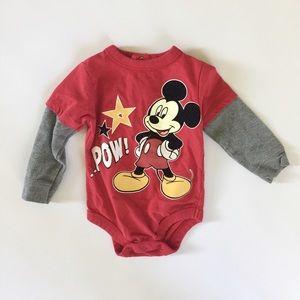Disney Mickey Mouse Long Sleeve Onesie